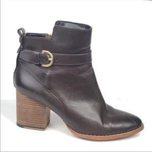 kate spade Shoes - Kate Spade Saturday Brown Buckle Ankle Boots 6.5